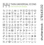 144 thin universal web icon set ...