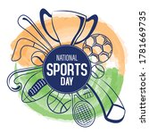 national sports day. national... | Shutterstock .eps vector #1781669735