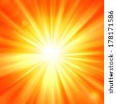 sun rays and yellow orange... | Shutterstock . vector #178171586