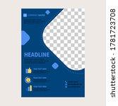 vector of flyer design template.... | Shutterstock .eps vector #1781723708