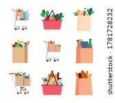 set of grocery bags icons  ... | Shutterstock .eps vector #1781728232