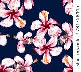 seamless pattern tropical...   Shutterstock .eps vector #1781758145