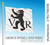 Canton of Appenzell other Rhodes, official flag, Switzerland, european country, vector illustration
