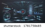 virtual reality. futuristic vr... | Shutterstock .eps vector #1781758685