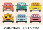 diverse people in a car. the...   Shutterstock .eps vector #1781776955