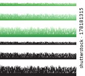 vector silhouette of grass on... | Shutterstock .eps vector #178181315