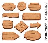 blank wooden signboards... | Shutterstock .eps vector #1781831468
