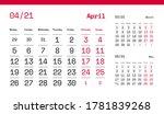 april page. 12 months premium... | Shutterstock .eps vector #1781839268