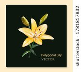Low Poly Yellow Delicate Lily...