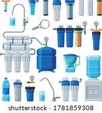 water filters set  equipment... | Shutterstock .eps vector #1781859308