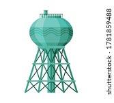 Green Metal Water Tower  Liqui...