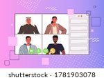 mix race people chatting during ... | Shutterstock .eps vector #1781903078