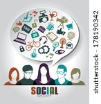 social media icons with group... | Shutterstock .eps vector #178190342
