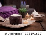 spa and wellness setting with... | Shutterstock . vector #178191632