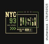 nyc 93 camouflage   tee shirt... | Shutterstock .eps vector #1781933525