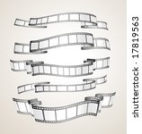 film strip banners   black and... | Shutterstock .eps vector #17819563