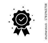 black certify icon like...   Shutterstock .eps vector #1781963708