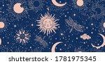 seamless blue space pattern... | Shutterstock .eps vector #1781975345