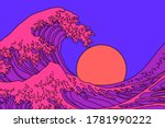Great Wave In Vaporwave Pop Art ...