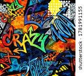 Abstract Bright Graffiti...