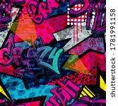 abstract bright graffiti... | Shutterstock .eps vector #1781991158