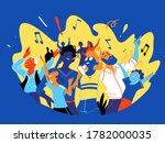 a group of people  family ... | Shutterstock .eps vector #1782000035
