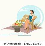 gardening and harvesting  woman ... | Shutterstock .eps vector #1782011768