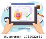 health medical insurance paper...   Shutterstock . vector #1782022652