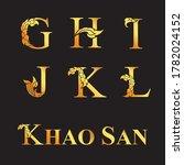 golden elegant letter g  h  i ... | Shutterstock .eps vector #1782024152