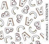 vector letters pattern  abc... | Shutterstock .eps vector #1782026798