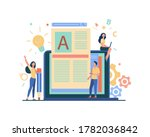 content author or writer job...   Shutterstock .eps vector #1782036842
