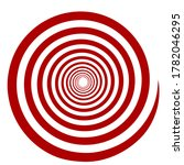 red spiral tunnel  hypnosis ... | Shutterstock .eps vector #1782046295