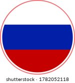 russia flag vector in circle...   Shutterstock .eps vector #1782052118