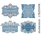 set of luxury vintage frames.... | Shutterstock .eps vector #178205498