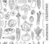 seamless pattern of outline... | Shutterstock .eps vector #1782059405