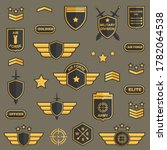 military badges and logos.... | Shutterstock .eps vector #1782064538