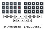 multimedia player icons set ...
