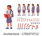 school girl character...   Shutterstock .eps vector #1782073712