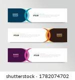 vector abstract banner design... | Shutterstock .eps vector #1782074702