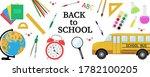 banner stationery for school...   Shutterstock .eps vector #1782100205