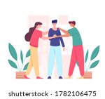 unity and teamwork concept.... | Shutterstock .eps vector #1782106475