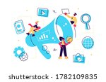 concept outbound marketing for... | Shutterstock .eps vector #1782109835