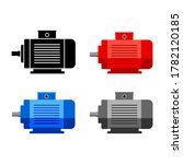 electric motor vector icon on... | Shutterstock .eps vector #1782120185