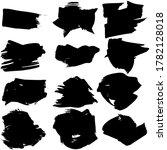 set of vector brush strokes....   Shutterstock .eps vector #1782128018