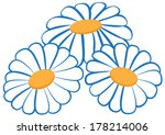 Illustration Of Three Camomile...