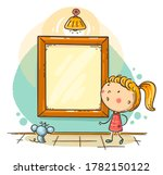 little girl looking at the... | Shutterstock .eps vector #1782150122