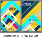 set abstract geometric modern...
