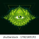 abstract symbol of all seeing... | Shutterstock .eps vector #1782185192