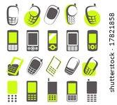 mobile phones. elements for...   Shutterstock .eps vector #17821858