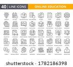 online education vector lines... | Shutterstock .eps vector #1782186398